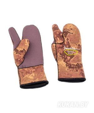 Перчатки трехпалые Marlin Nord Oliva 7 мм