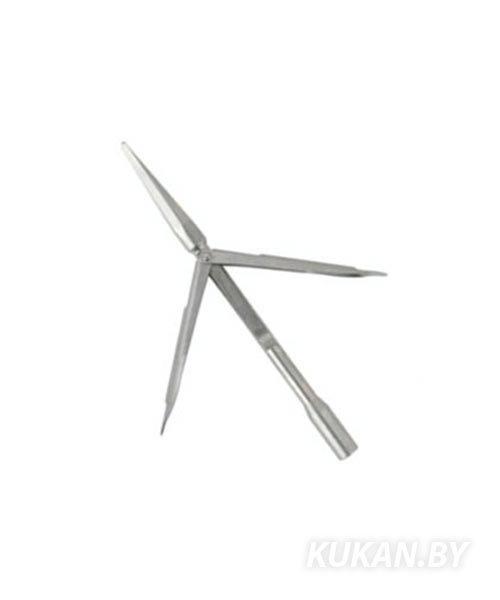 Наконечник Salvi Martin нержавеющая сталь, трёхгранная заточка, 2 длинных флажка